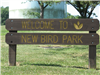 Welcome to New Bird Park Sign