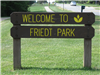 Welcome to Friedt Park Sign