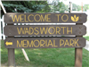 Welcome to Memorial Park Sign