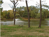 Memorial Park Pond With Sprayer - October 2001