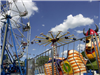 Ferris Wheel and Other Rides at Carnival