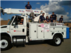 City of Wadsworth Cable and Internet Truck With Employees