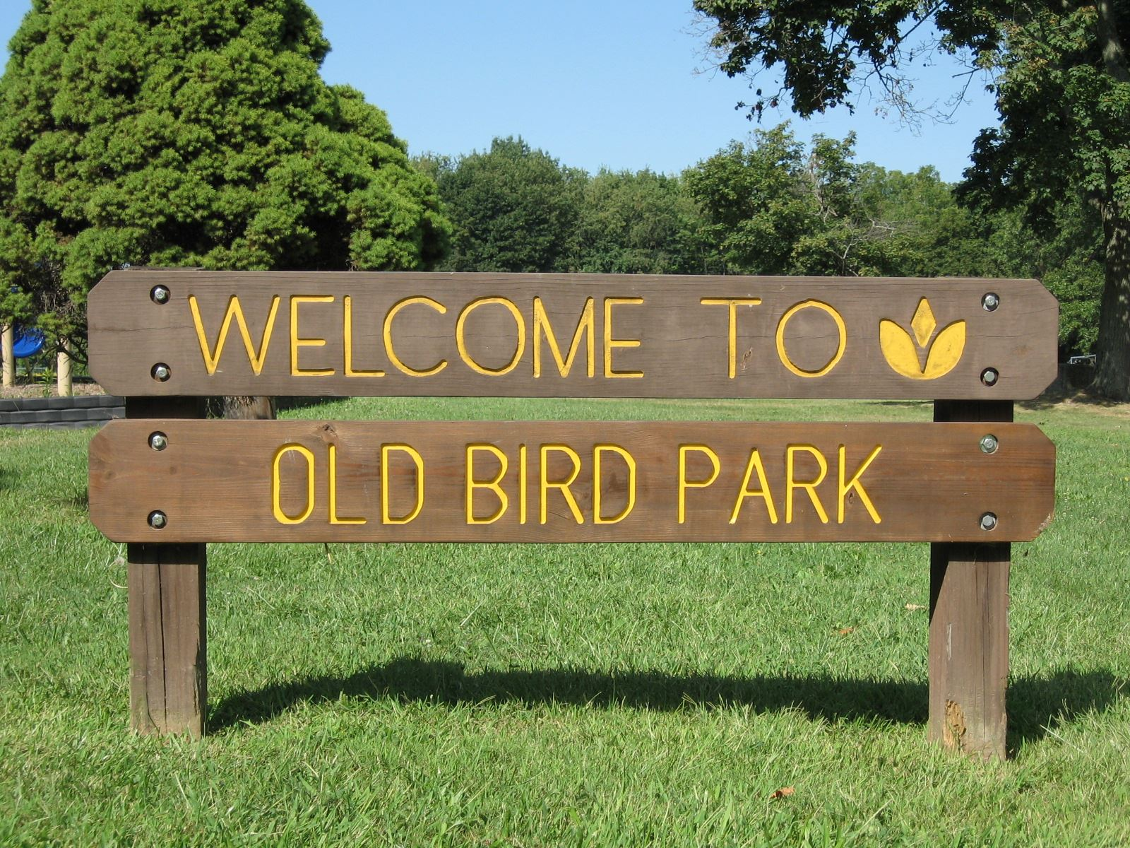 Welcome to Old Bird Park Sign