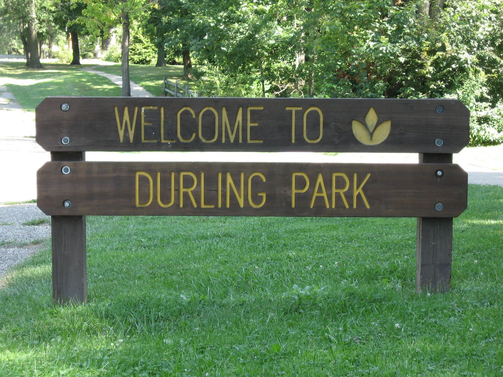 Welcome to Durling Park Sign