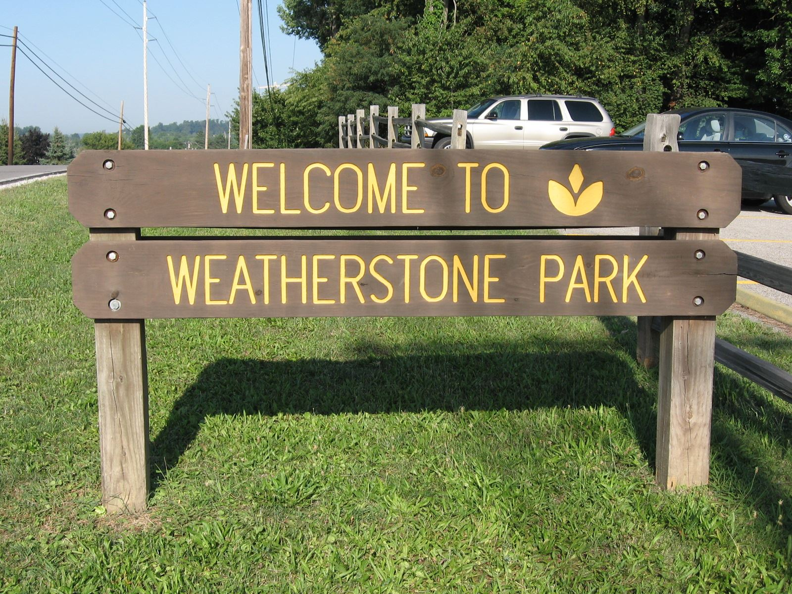 Welcome to Weatherstone Park Sign
