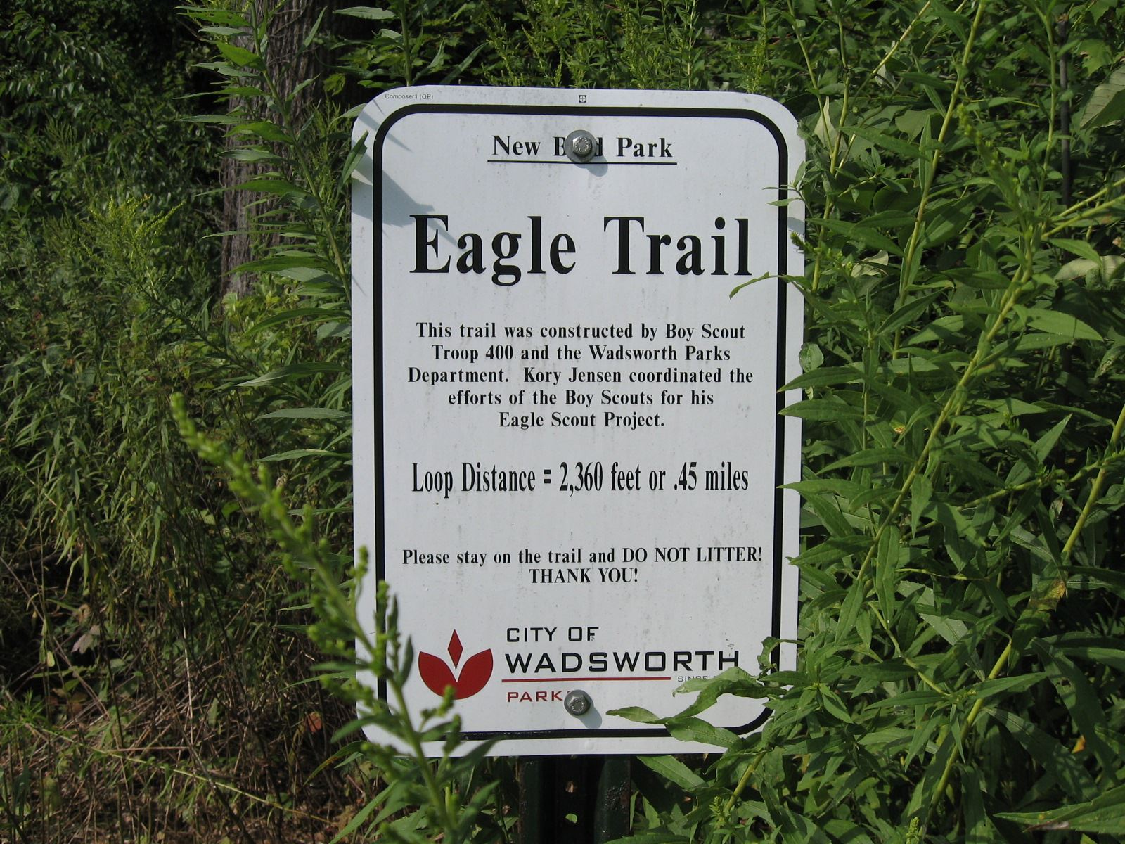 Eagle Trail Sign