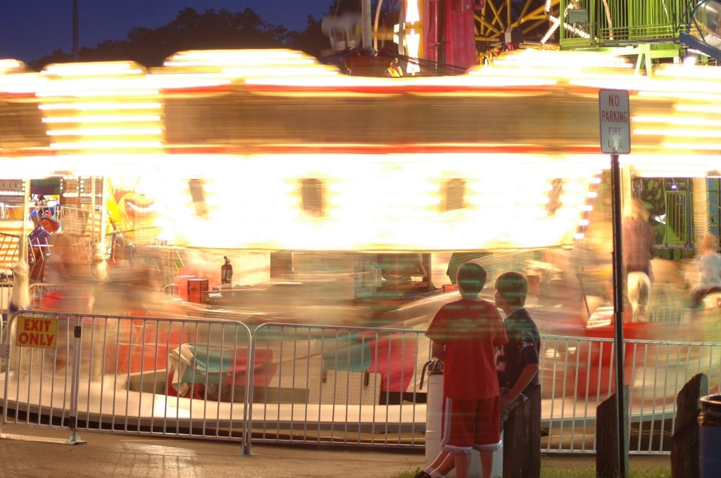 Carnival Ride in Fast Motion