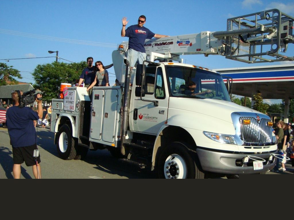 City of Wadworth Work Truck in Parade