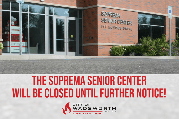 sENIOR cENTER cLOSED
