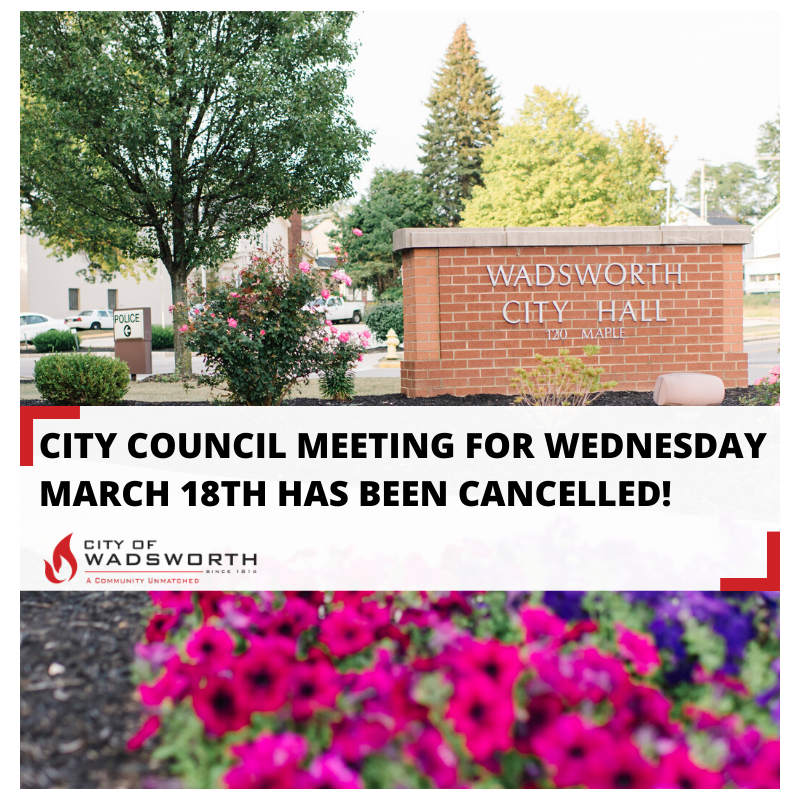 Council Meeting Cancellation