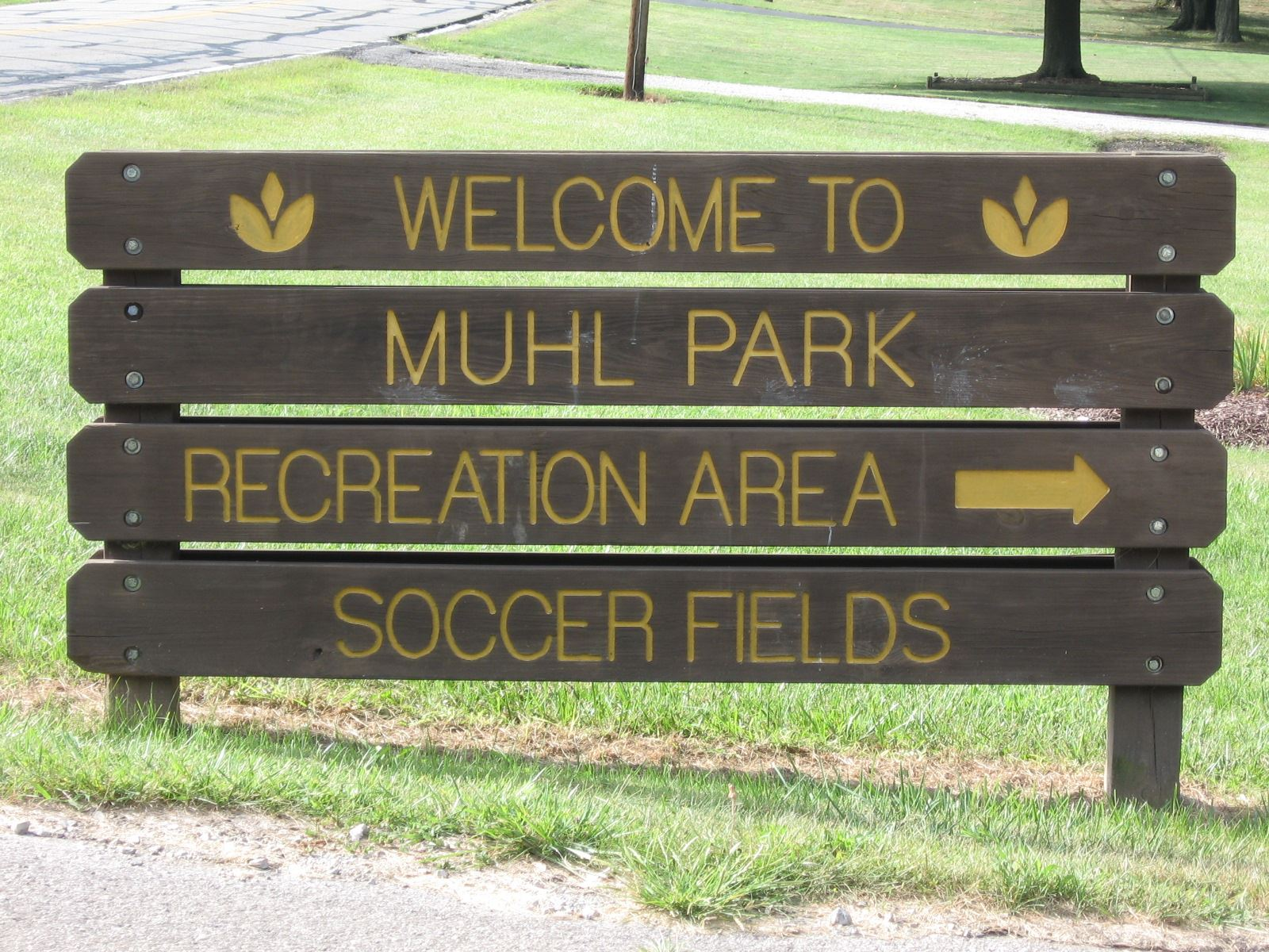 Welcome to Muhl Park Sign