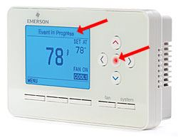 Thermostat with Arrows