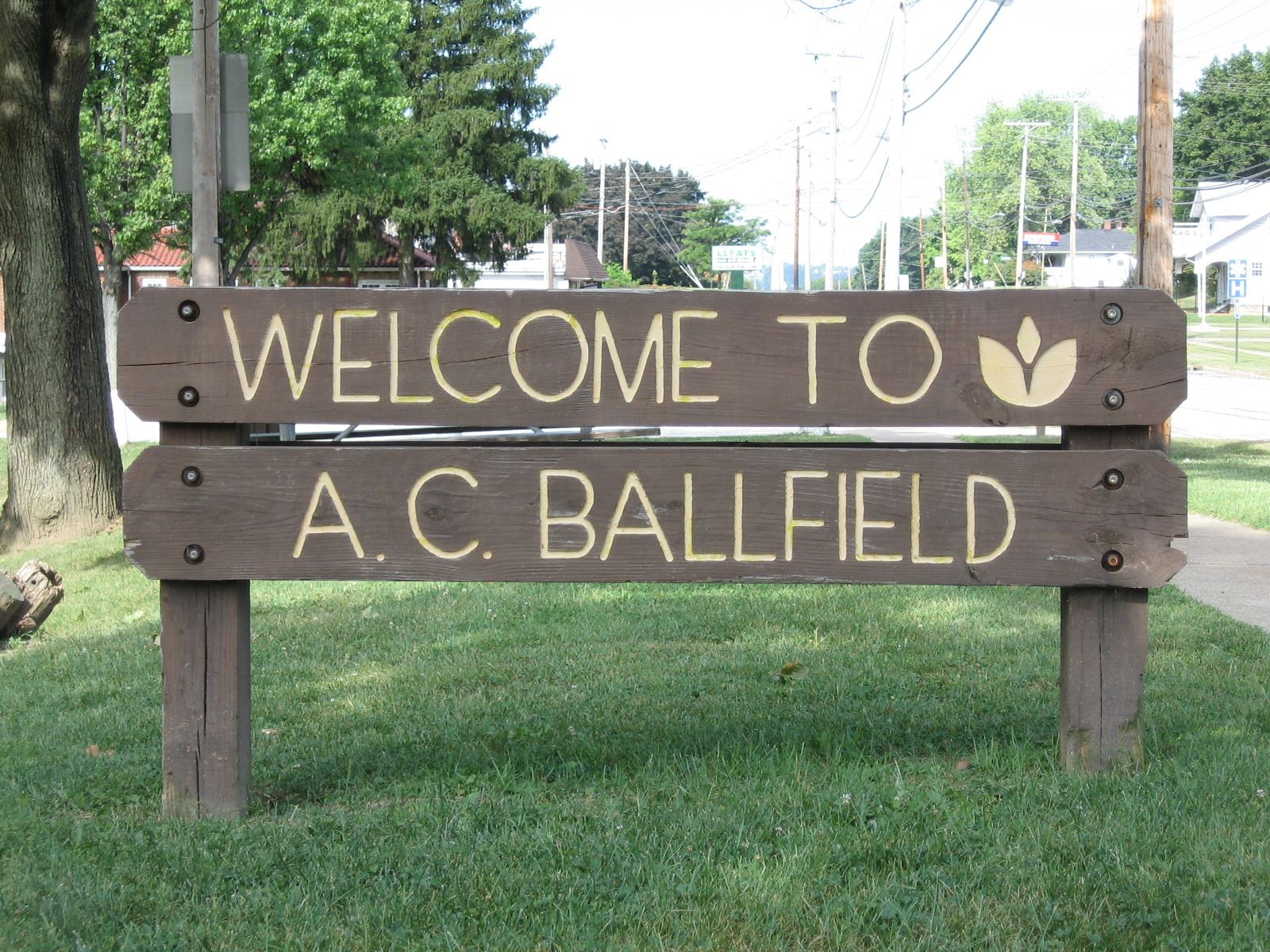 Welcome to A.C. Ballfield Sign